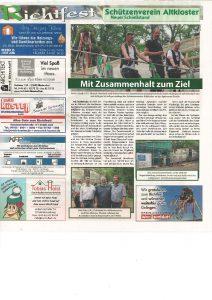 Richtfest Schützenverein Altkloster